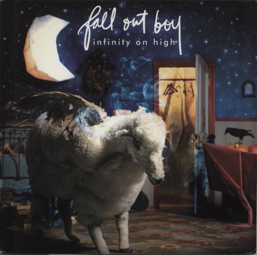 Fall Out Boy Infinity On High - Blue & Clear Splattered Vinyl 2-LP vinyl record set (Double Album) US FOL2LIN686317