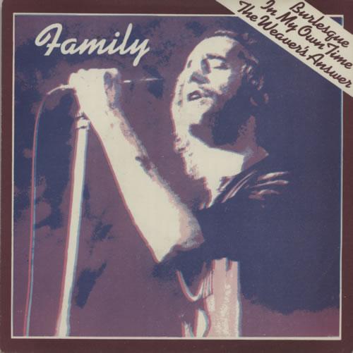 """Family Burlesque 7"""" vinyl single (7 inch record) Yugoslavian FML07BU586517"""