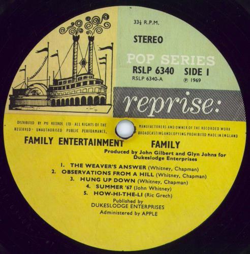 Family Family Entertainment + Poster - VG vinyl LP album (LP record) UK FMLLPFA607371