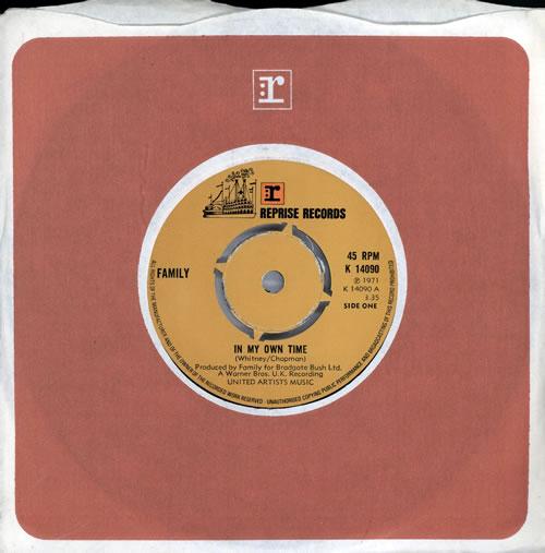 """Family In My Own Time - 4pr 7"""" vinyl single (7 inch record) UK FML07IN567399"""