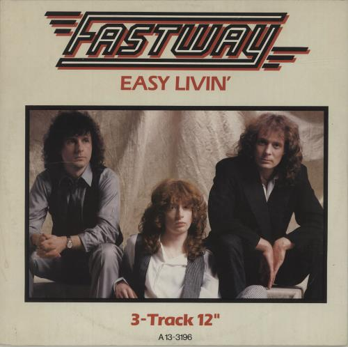 "Fastway Easy Livin' - picture sleeve 12"" vinyl single (12 inch record / Maxi-single) UK FSW12EA684378"