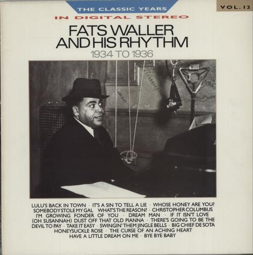 Fats Waller 1934 To 1936 vinyl LP album (LP record) UK FTWLPTO673403