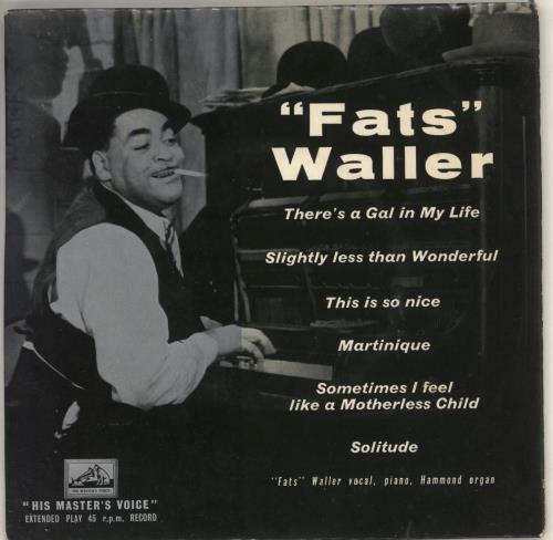 """Fats Waller Fats Waller 7"""" vinyl single (7 inch record) UK FTW07FA726202"""
