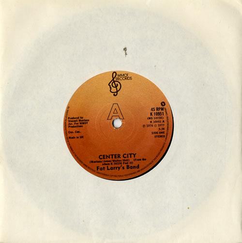 "Fat Larry's Band Center City 7"" vinyl single (7 inch record) UK FLR07CE573673"