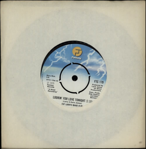 """Fat Larry's Band Lookin' For Love Tonight 7"""" vinyl single (7 inch record) UK FLR07LO592145"""