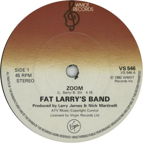 "Fat Larry's Band Zoom 7"" vinyl single (7 inch record) UK FLR07ZO298331"