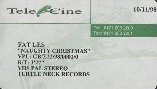 Fat Les Naughty Christmas video (VHS or PAL or NTSC) UK FESVINA469751