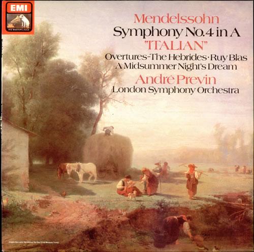 Felix Mendelssohn Symphony No. 4 in A 'Italian' - 2nd vinyl LP album (LP record) UK M2BLPSY528401
