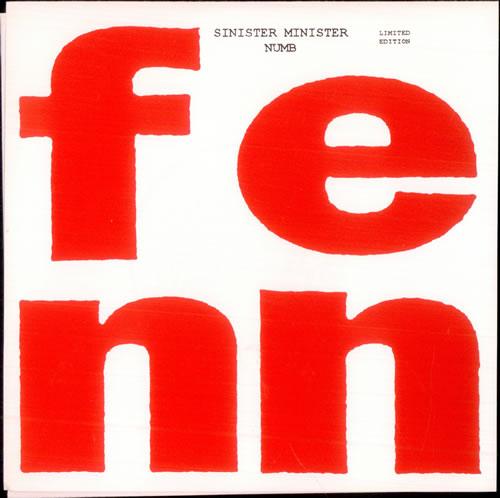 """Fenn Sinister Minister - Red Vinyl 7"""" vinyl single (7 inch record) UK FH307SI510294"""