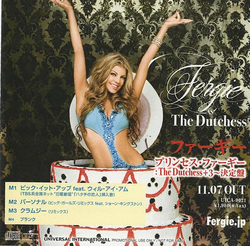 Fergie The Dutchess + 3 CD-R acetate Japanese FR6CRTH439163