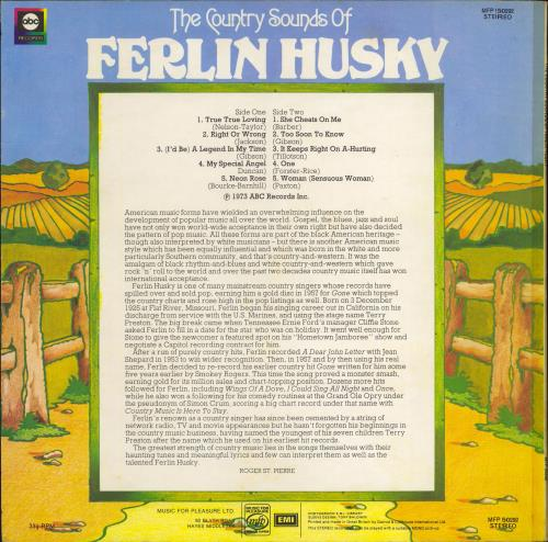 Ferlin Husky The Country Sounds Of Ferlin Husky vinyl LP album (LP record) UK FHRLPTH771165