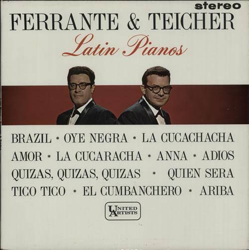 Ferrante And Teicher Latin Pianos vinyl LP album (LP record) UK F&TLPLA640916