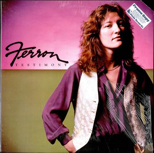 Ferron Testimony vinyl LP album (LP record) US FE9LPTE499549