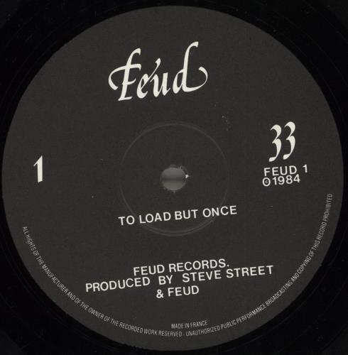 Feud To Load But Once vinyl LP album (LP record) UK ZF5LPTO714612