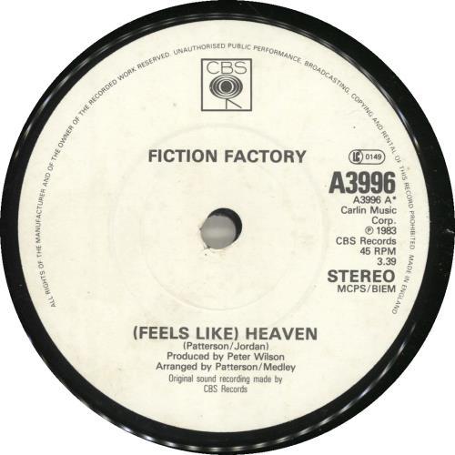 "Fiction Factory [Feels Like] Heaven - Solid 7"" vinyl single (7 inch record) UK F-F07FE697796"