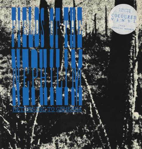 "Fields Of The Nephilim Returning To Gehenna - Blue Vinyl 12"" vinyl single (12 inch record / Maxi-single) Italian FIE12RE366756"
