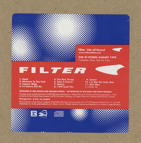 Filter Title Of Record CD album (CDLP) US FILCDTI271689