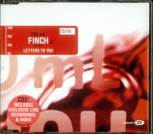 Finch (US) Letters To You UK 2 CD single set (Double CD single
