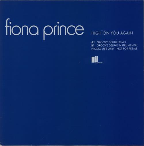 "Fiona Prince High On You Again 12"" vinyl single (12 inch record / Maxi-single) UK FZ912HI606931"