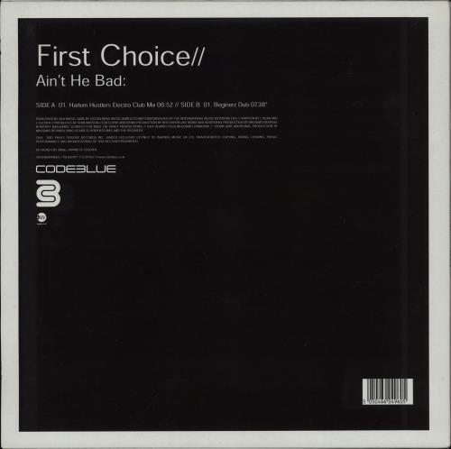 "First Choice Ain't He Bad 12"" vinyl single (12 inch record / Maxi-single) UK FCH12AI757856"