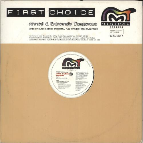 "First Choice Armed And Extremely Dangerous 12"" vinyl single (12 inch record / Maxi-single) UK FCH12AR712001"