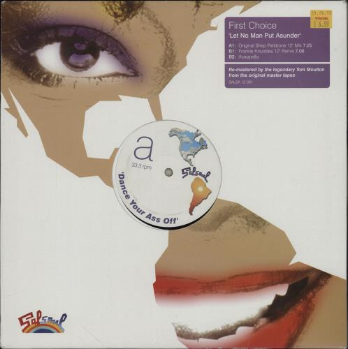 """First Choice Let No Man Put Asunder 12"""" vinyl single (12 inch record / Maxi-single) UK FCH12LE261251"""