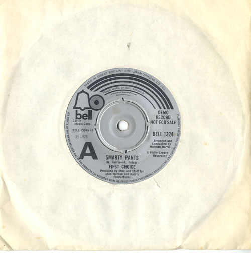 """First Choice Smarty Pants 7"""" vinyl single (7 inch record) UK FCH07SM577283"""
