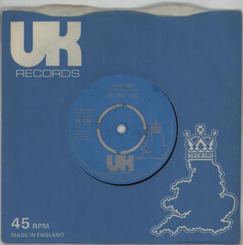"First Class Beach Baby 7"" vinyl single (7 inch record) UK FNX07BE677727"