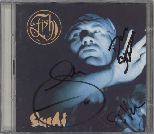Fish Sushi - Autographed 2 CD album set (Double CD) UK FIS2CSU766149