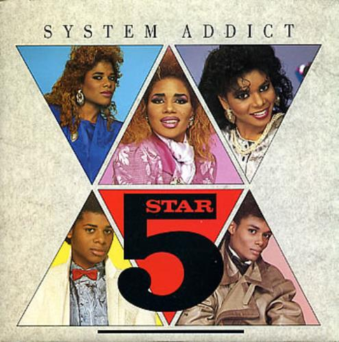 "Five Star System Addict 7"" vinyl single (7 inch record) UK FIV07SY237499"