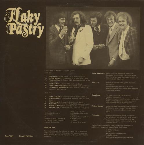 Flaky Pastry Ingredients vinyl LP album (LP record) UK FPRLPIN760360
