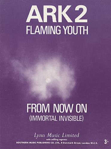 Flaming Youth From Now On (Immortal Invisible) sheet music UK FYHSMFR320427