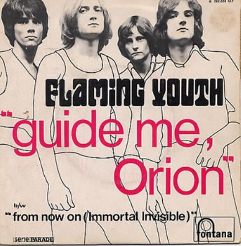"Flaming Youth Guide Me Orion 7"" vinyl single (7 inch record) French FYH07GU130876"