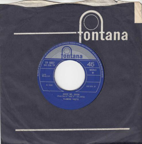 """Flaming Youth Guide Me, Orion 7"""" vinyl single (7 inch record) UK FYH07GU192428"""