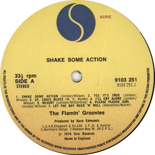Flamin' Groovies Shake Some Action - 1st vinyl LP album (LP record) UK FLALPSH727345
