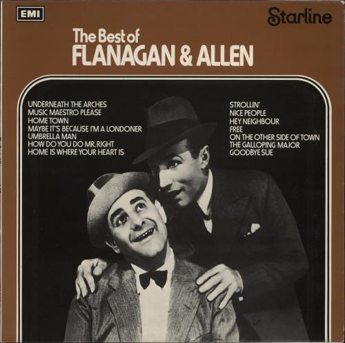 Flanagan & Allen The Best Of Flanagan & Allen vinyl LP album (LP record) UK F~ALPTH638652