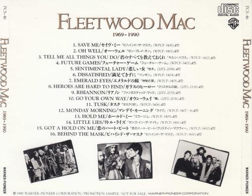 Fleetwood Mac 1969-1990 Sampler CD album (CDLP) Japanese MACCDSA22890