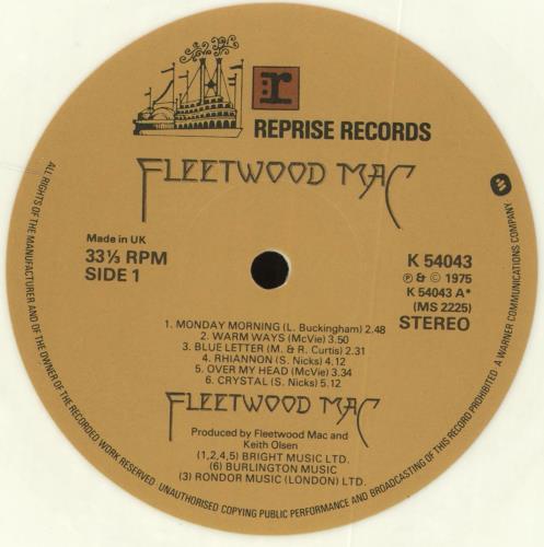 Fleetwood Mac Fleetwood Mac - White Vinyl vinyl LP album (LP record) UK MACLPFL73652