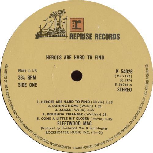Fleetwood Mac Heroes Are Hard To Find UK vinyl LP album (LP record)