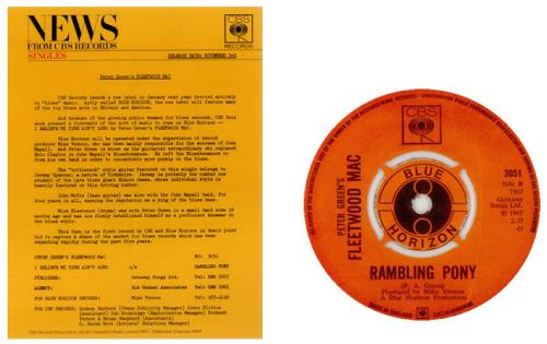 "Fleetwood Mac I Believe My Time Ain't Long + Press Release 7"" vinyl single (7 inch record) UK MAC07IB452579"