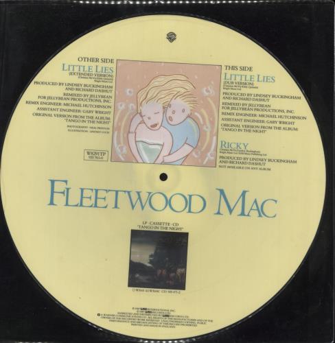 "Fleetwood Mac Little Lies 12"" vinyl picture disc 12inch picture disc record UK MAC2PLI714739"