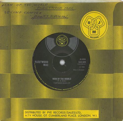 "Fleetwood Mac Man Of The World - Solid 7"" vinyl single (7 inch record) UK MAC07MA614521"