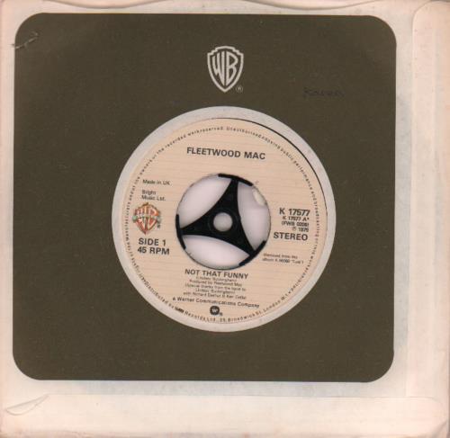 """Fleetwood Mac Not That Funny 7"""" vinyl single (7 inch record) UK MAC07NO651671"""