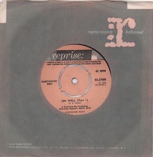 "Fleetwood Mac Oh Well - 4pr 7"" vinyl single (7 inch record) UK MAC07OH571097"