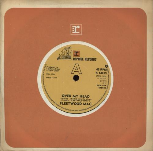 "Fleetwood Mac Over My Head 7"" vinyl single (7 inch record) UK MAC07OV701548"