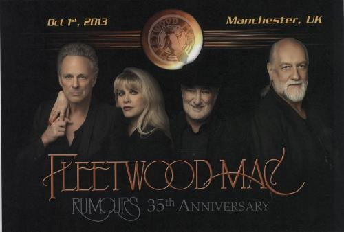 Fleetwood Mac Rumours 35th Anniversary - Manchester artwork UK MACARRU652631