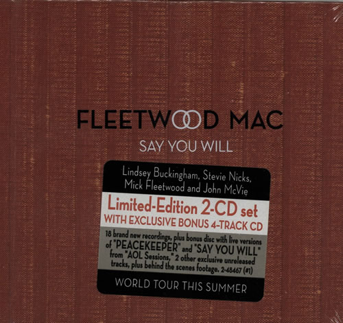 Fleetwood Mac Say You Will 2 CD album set (Double CD) UK MAC2CSA241676
