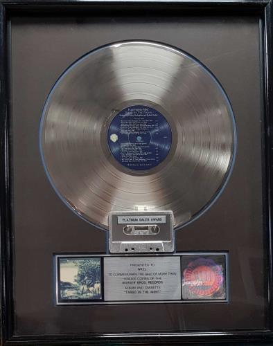 Fleetwood Mac Tango In The Night - Platinum RIAA award disc US MACAWTA291922