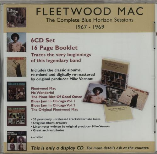 Fleetwood Mac The Complete Blue Horizon Sessions 1967-1969 - Display CD CD album (CDLP) US MACCDTH150913
