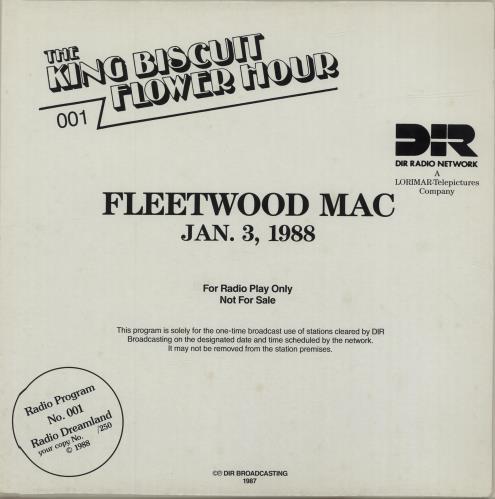 Fleetwood Mac The King Biscuit Flower Hour 001 vinyl LP album (LP record) Italian MACLPTH686485